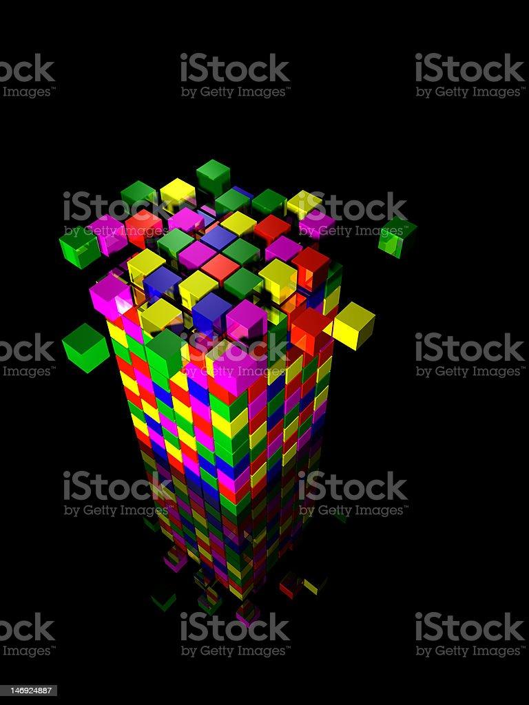 illustration of cube royalty-free stock photo