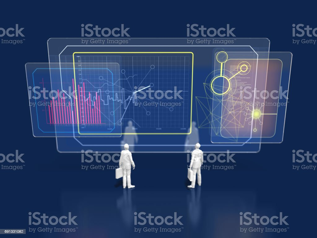 3D illustration of current situation analysis stock photo