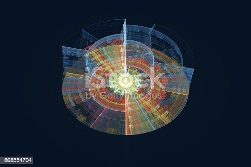 istock Illustration of data record, database 868554704