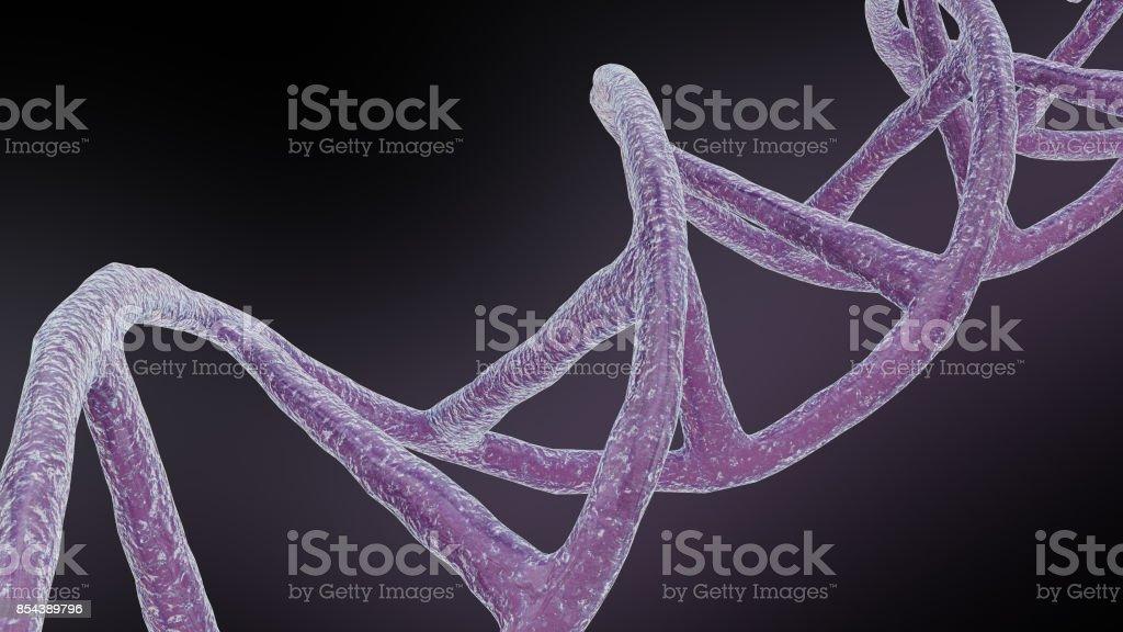 3D illustration of DNA stock photo