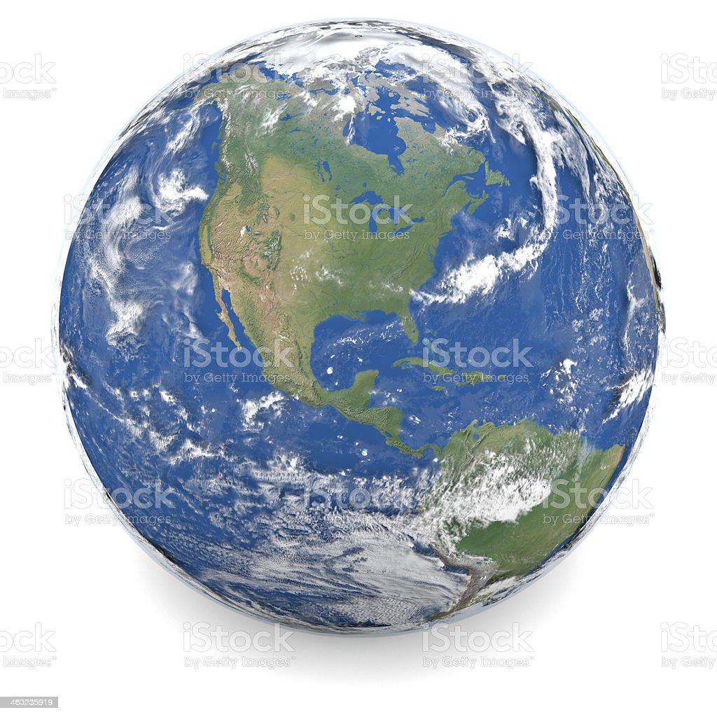 Illustration of Earth stock photo
