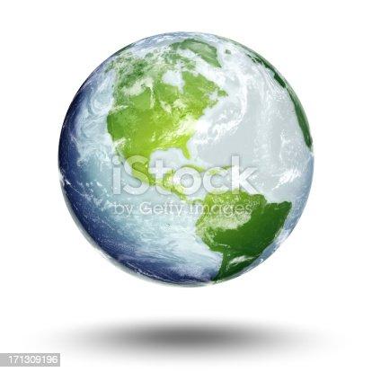 186020817istockphoto Illustration of Earth's western hemisphere and the Americas 171309196