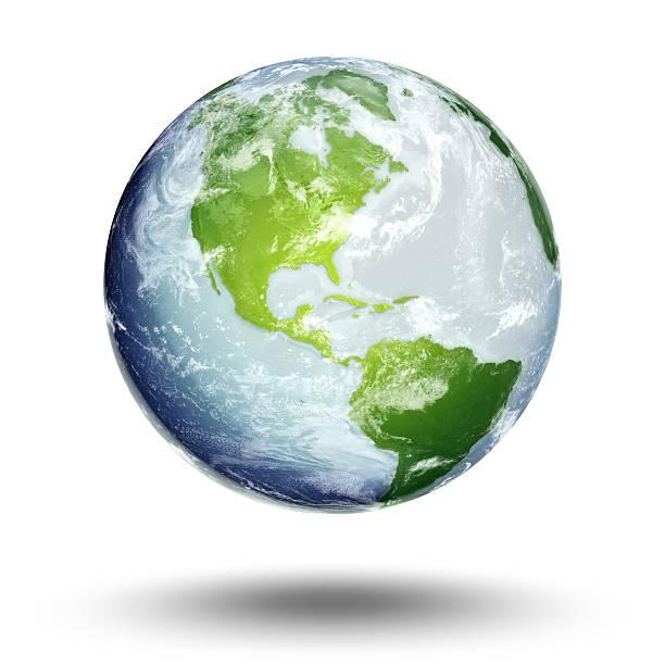 terra-americas hemisfério ocidental - green world imagens e fotografias de stock