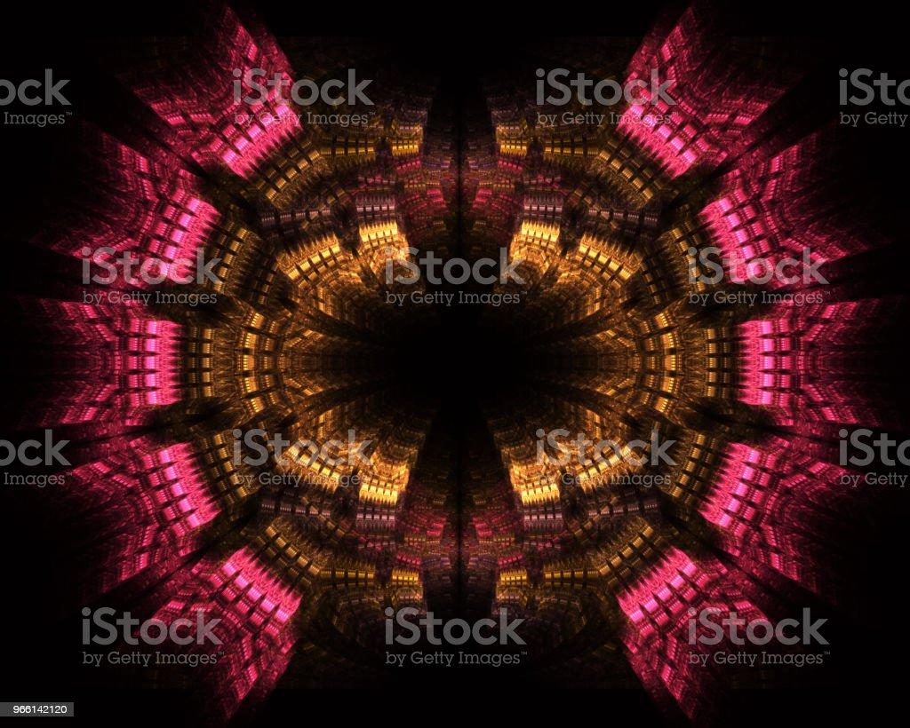 Illustration av snabbare än ljus (FTL) interstellära eller intergalaktisk resa. Hastighet av ljus och hyperspace. - Royaltyfri Abstrakt Bildbanksbilder