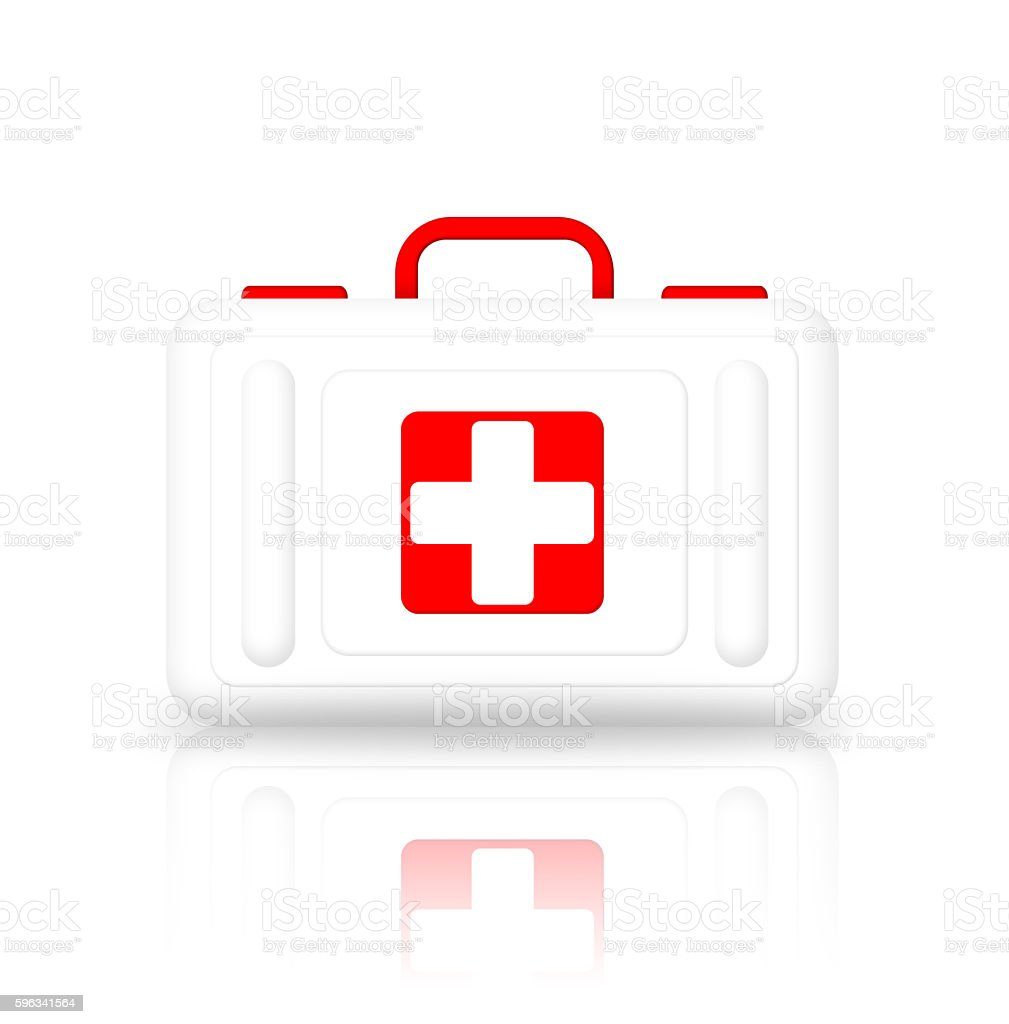 Illustration of first aid kit royalty-free stock photo