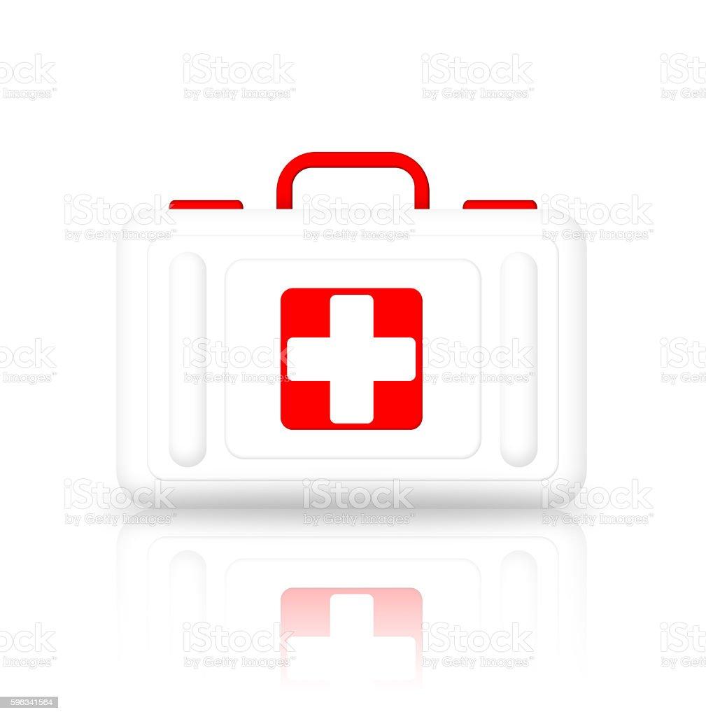 Illustration of first aid kit Lizenzfreies stock-foto
