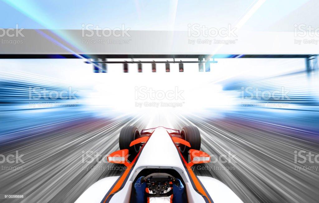 3D illustration of formula one stock photo