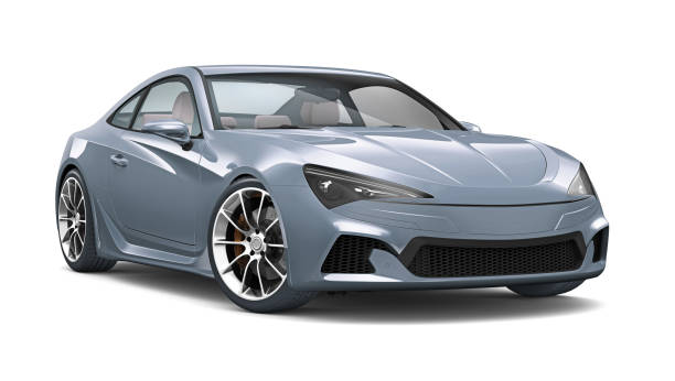 3D illustration of Generic Sports Coupe Car on white 3D illustration of Generic Sports Coupe Car isolated on white sports car stock pictures, royalty-free photos & images