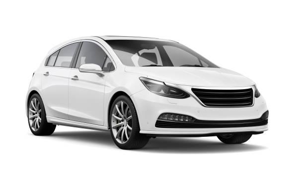 ●汎用ホワイトカーの3d イラスト - 車 ストックフォトと画像