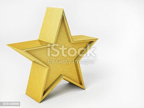 istock 3D Illustration of Golden Star Isolated Over White Background 529439699