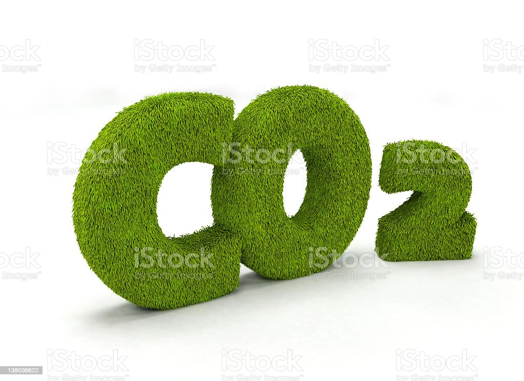 Illustration of grass made into Co2 - Royalty-free Carbon Dioxide Stock Photo