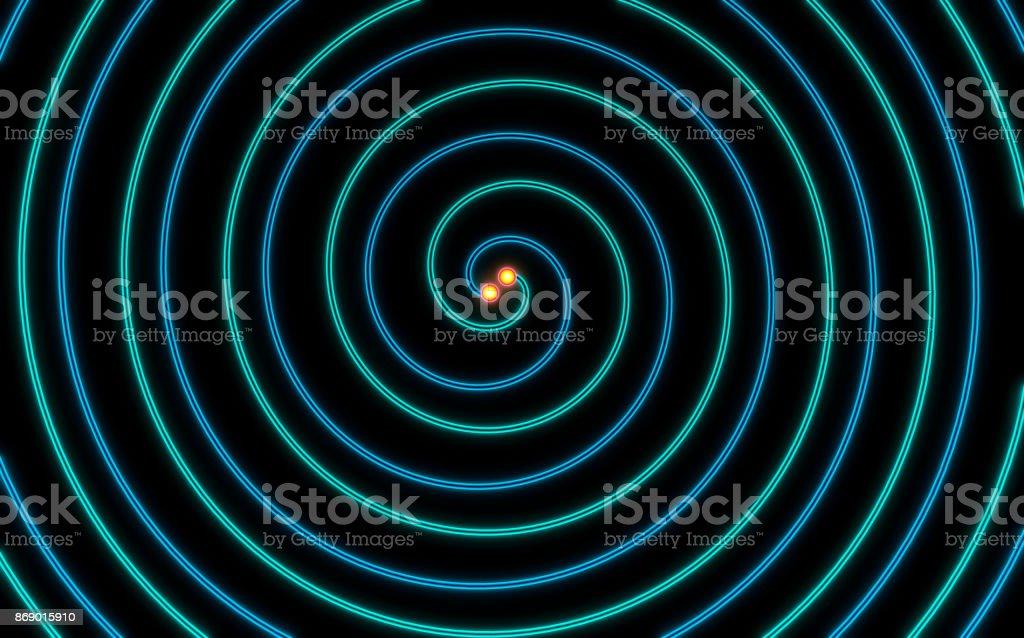 illustration of Gravitational Waves stock photo