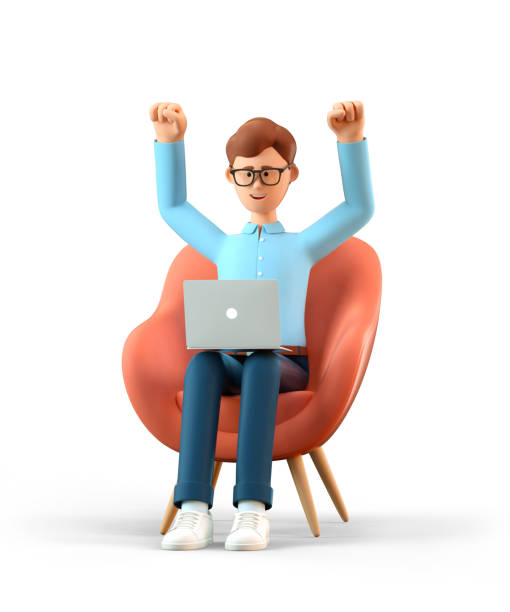 Illustration of happy man with laptop sitting in armchair and his picture id1227086526?b=1&k=6&m=1227086526&s=612x612&w=0&h=jbhzyoypb451sx1jsiechgd2hccmipv6ht5oju evp8=