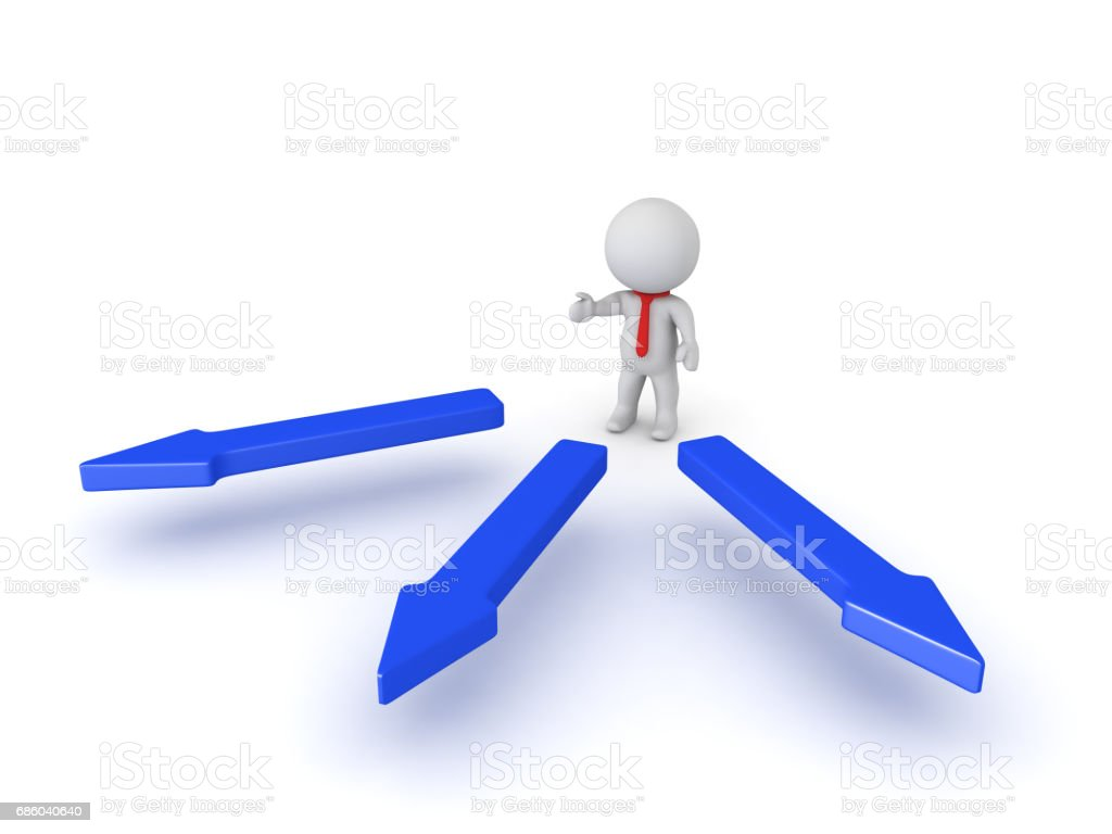 3D illustration of how a manager delegates taks to a team stock photo