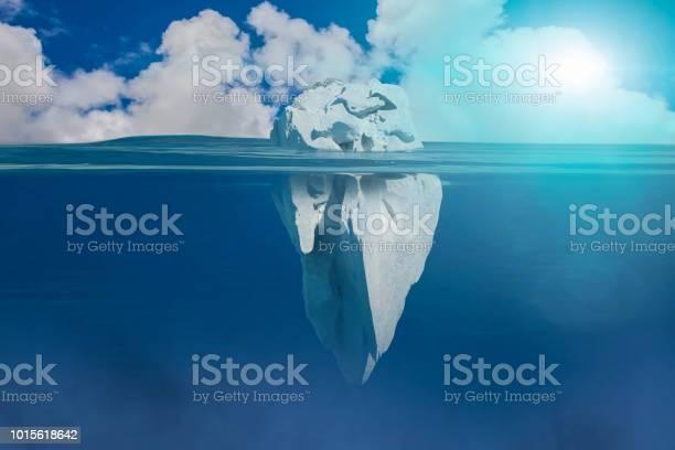 Photo of 3D Illustration of iceberg under water