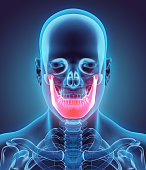 istock 3D illustration of Mandible, medical concept. 533565394