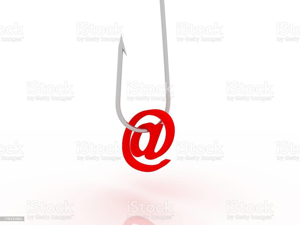 Ilustração de phishing fraudes online através de e-mail - fotografia de stock