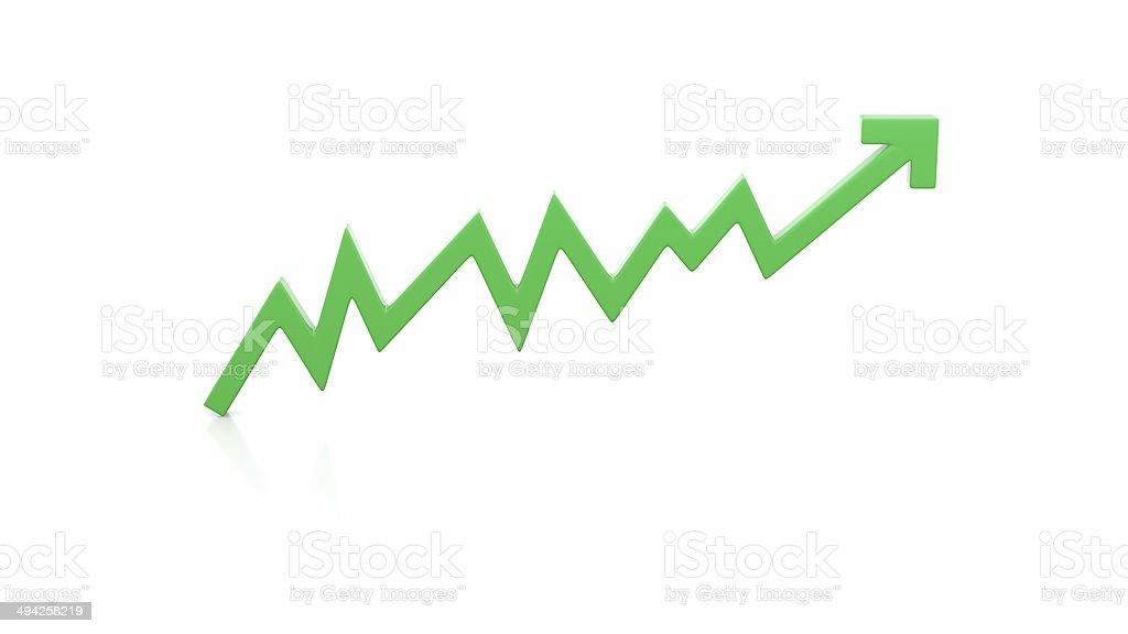 Illustration of positive chart line stock photo