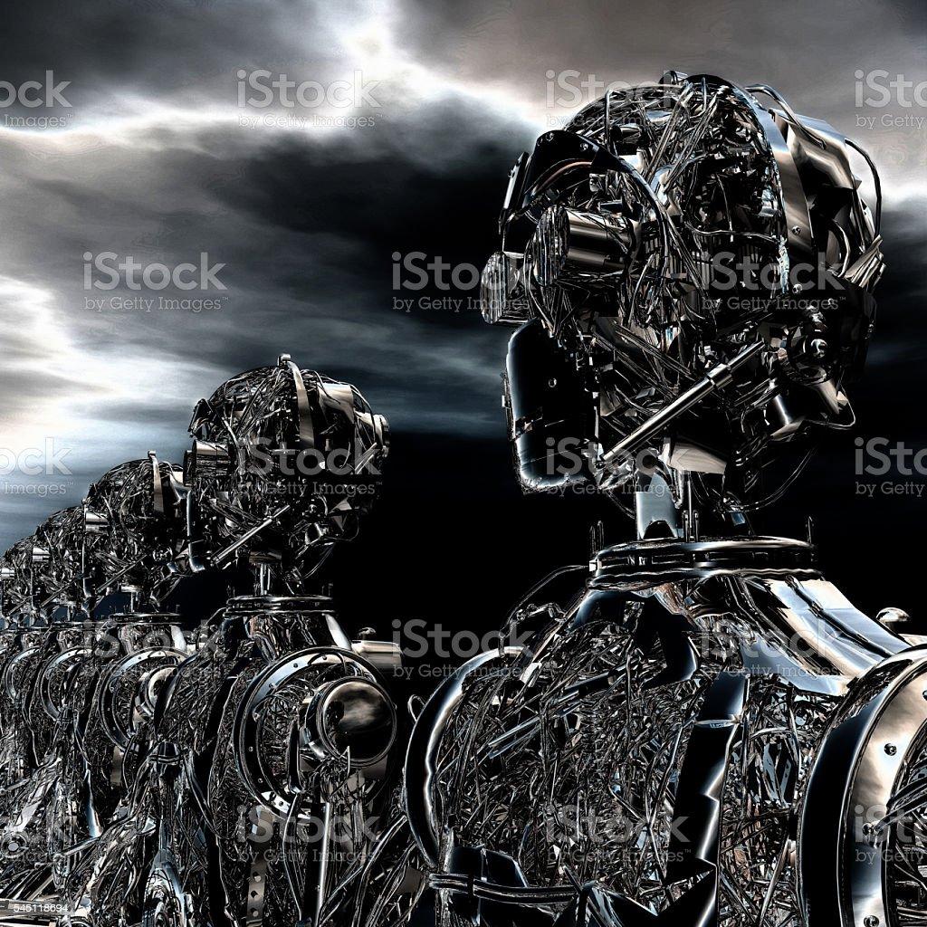 3D Illustration of Robots stock photo