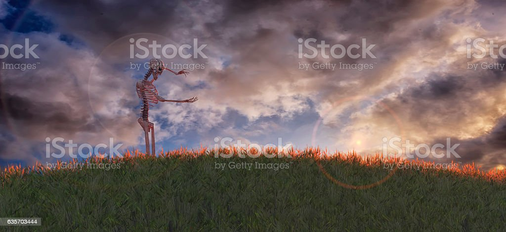 3D illustration of skeleton royalty-free stock photo