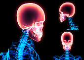 istock 3D illustration of skull anatomy - part of human skeleton. 851802032