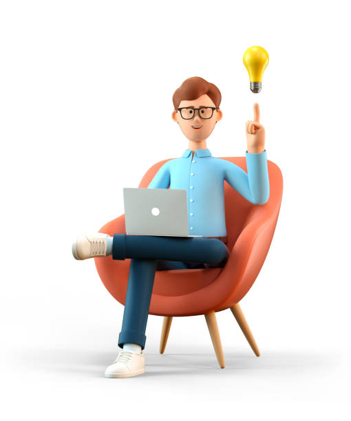 Illustration of smiling man with laptop and bulb over head sitting in picture id1227303423?b=1&k=6&m=1227303423&s=612x612&w=0&h=8prtrcxepnqp8vhz5hy4zubsxygadllwcas3xa8xpkm=