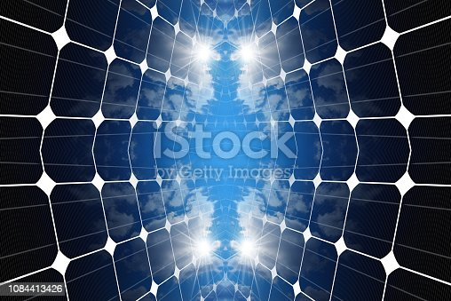 istock 3D illustration of Solar panels 1084413426