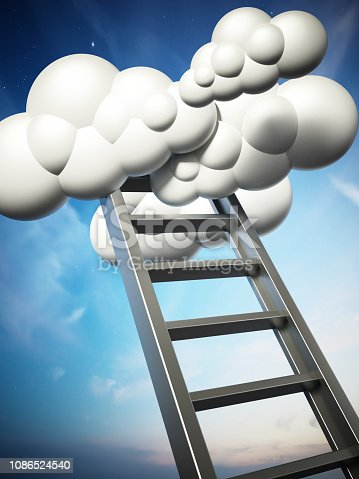 931227282istockphoto 3D illustration of staircase leading to the clouds 1086524540