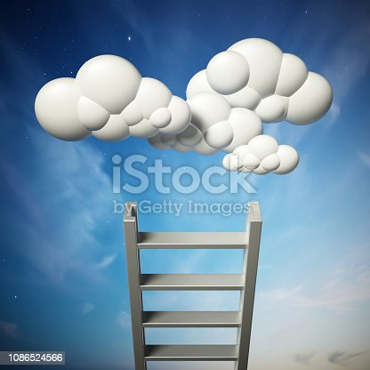 931227282istockphoto 3D illustration of staircase leading to the clouds 1086524566