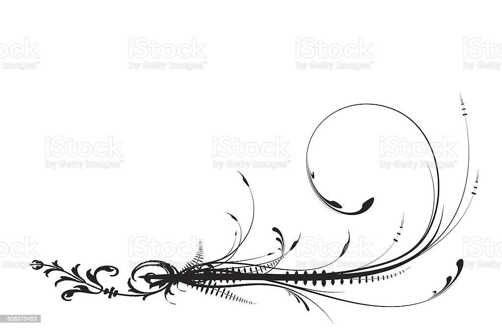 Illustration of swirl leaves. stock photo