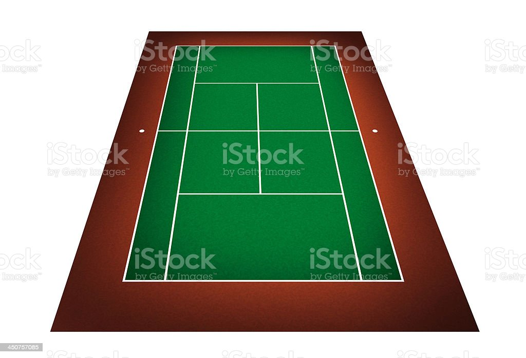 illustration of tennis court royalty-free stock photo