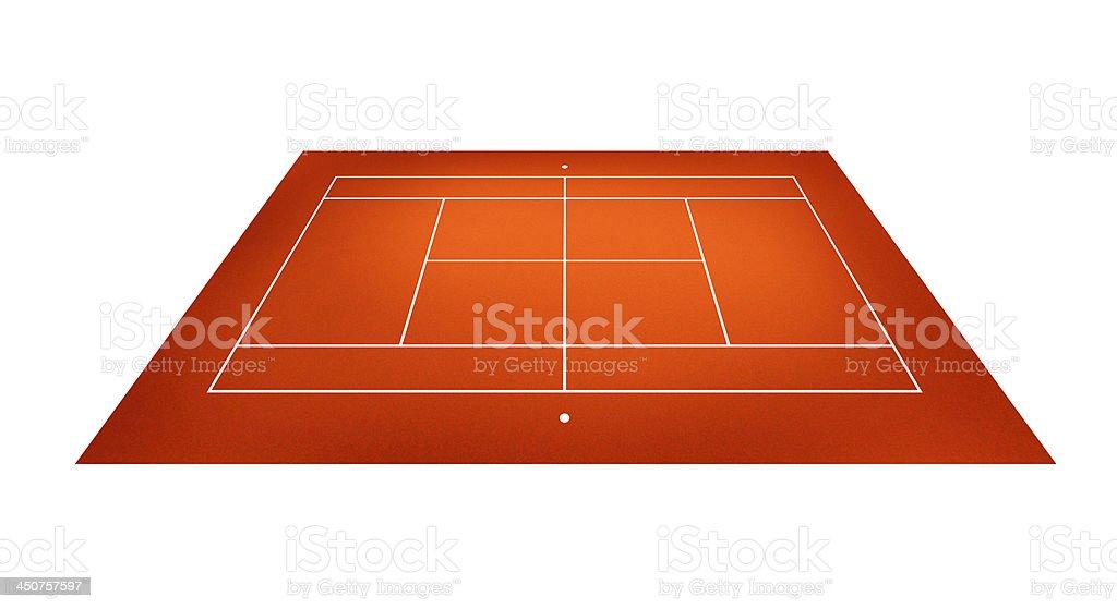 illustration of tennis court royalty-free stock photo