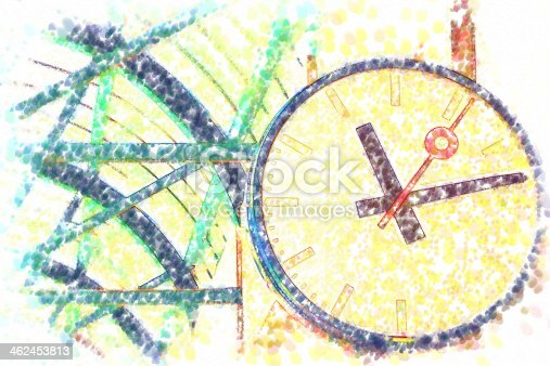 istock illustration of the clocks at station 462453813