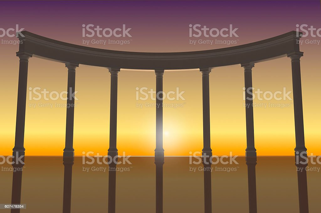 Illustration of the colonnade 2 stock photo