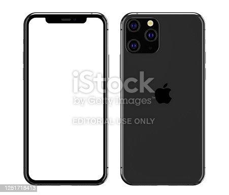 892510910 istock photo illustration of the iPhone 11 Pro blank screen 1251718413