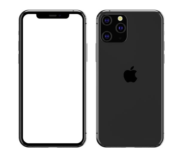 illustration of the iphone 11 pro blank screen - iphone zdjęcia i obrazy z banku zdjęć