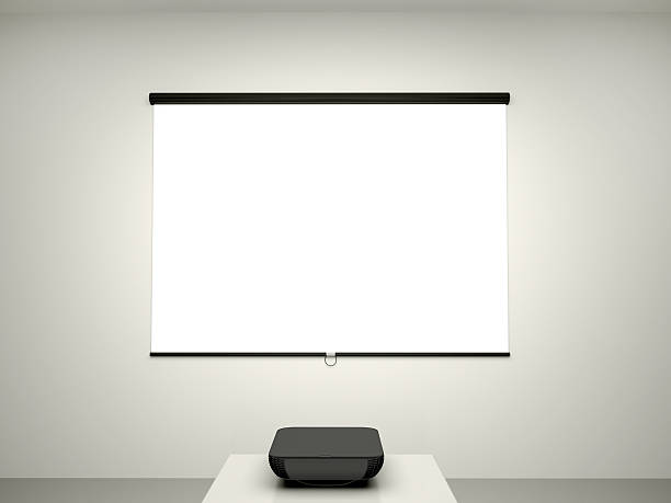 illustration of the presentation screen - projection screen stock photos and pictures