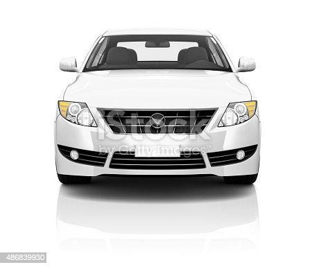 istock Illustration of Transportation Technology Car Performance Concep 486839930