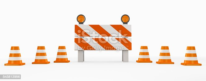 istock 3D illustration of under construction concept. 545813956