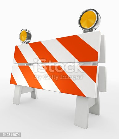 istock 3D illustration of under construction concept. 545814974