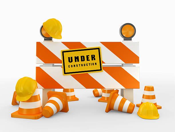 3D illustration of under construction concept. - foto stock