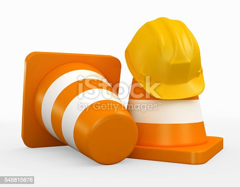 istock 3D illustration of under construction concept. 545815676