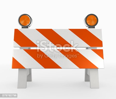istock 3D illustration of under construction concept. 579760796