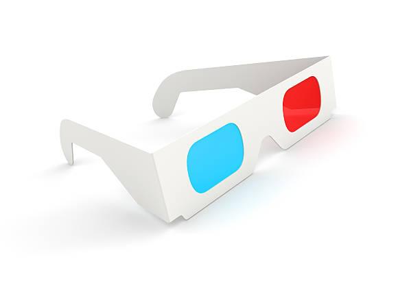 Illustration of white 3D Glasses stock photo