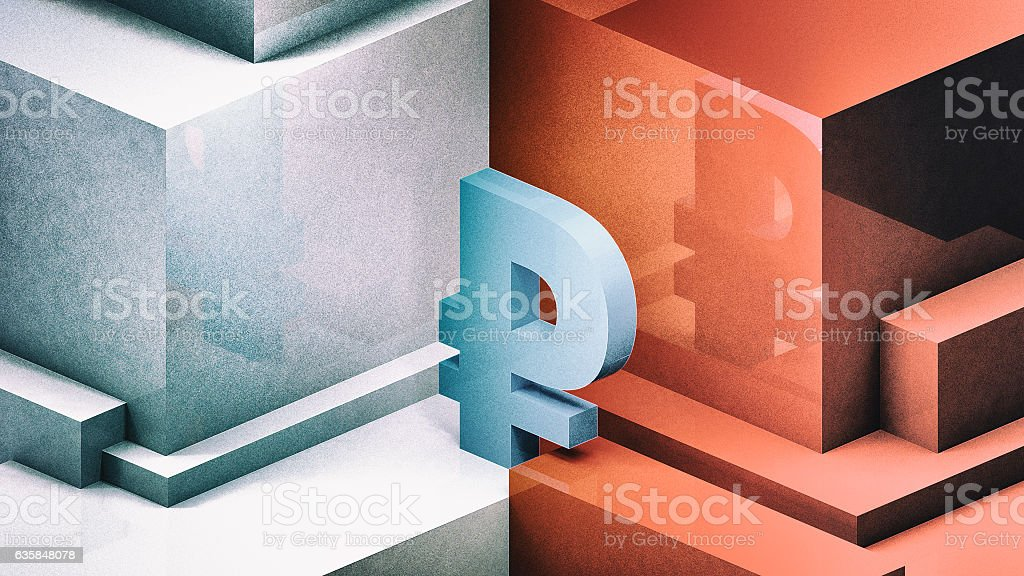 RUSSIAN RUBLE 3D illustration - foto de stock
