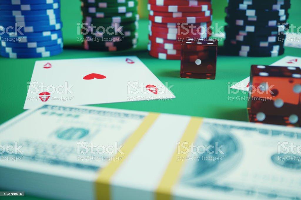 Casino War Tisch Layout
