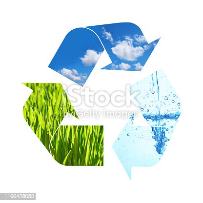 499093370 istock photo Illustration recycling symbol of nature elements 1166428053