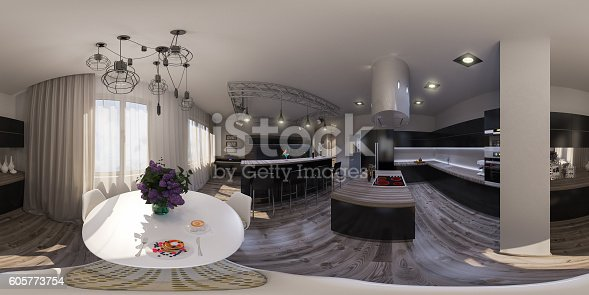 938518926istockphoto illustration seamless panorama of living room interior design 605773754