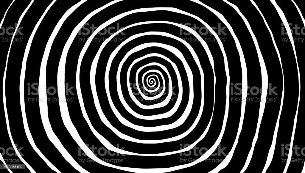 Illustration spiral, background. Hypnotic, dynamic vortex. stock photo