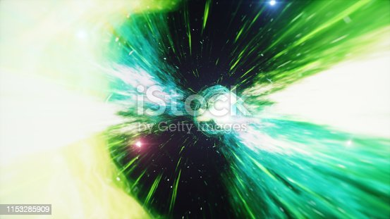 664390112 istock photo 3D illustration tunnel or wormhole, tunnel that can connect one universe with another. Abstract speed tunnel warp in space, wormhole or black hole, scene of overcoming the temporary space in cosmos. 1153285909